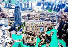 Dubai Aerial View Waterways