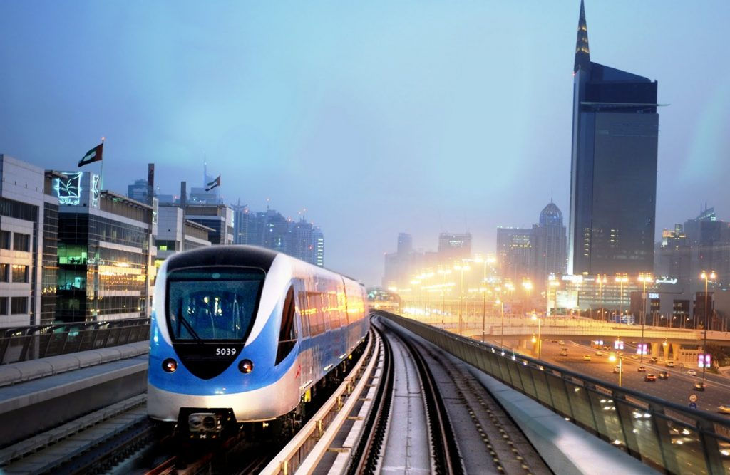 Dubai Metro Nightscape